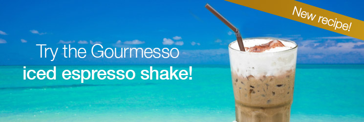 Try our delicious iced espresso shake with our Gourmesso coffee capsules