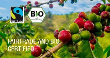 Fairtrade and bio certified